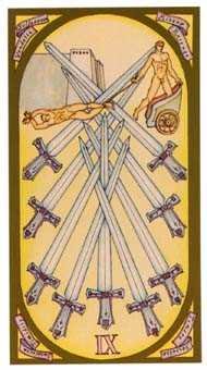 Nine of Arrows Tarot Card - Renaissance Tarot Deck