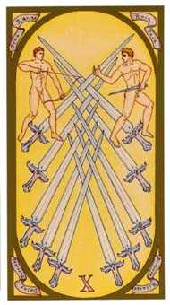 Ten of Arrows Tarot Card - Renaissance Tarot Deck