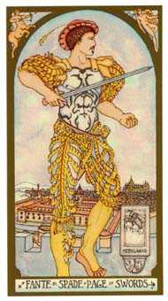 Daughter of Swords Tarot Card - Renaissance Tarot Deck