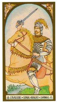 Knight of Spades Tarot Card - Renaissance Tarot Deck