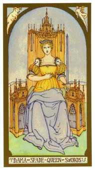 Reine of Swords Tarot Card - Renaissance Tarot Deck
