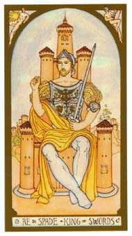 Roi of Swords Tarot Card - Renaissance Tarot Deck