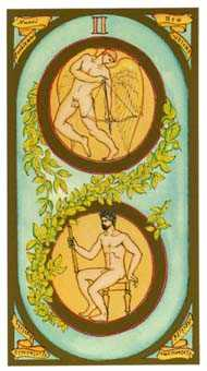Two of Rings Tarot Card - Renaissance Tarot Deck