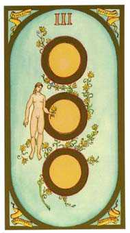 Three of Discs Tarot Card - Renaissance Tarot Deck