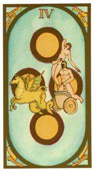 Four of Pumpkins Tarot Card - Renaissance Tarot Deck