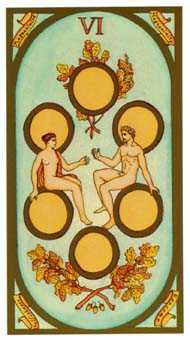 Six of Coins Tarot Card - Renaissance Tarot Deck