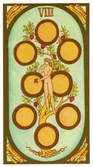 Eight of Coins Tarot Card - Renaissance Tarot Deck