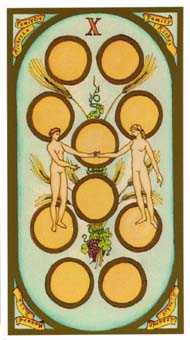 Ten of Pumpkins Tarot Card - Renaissance Tarot Deck