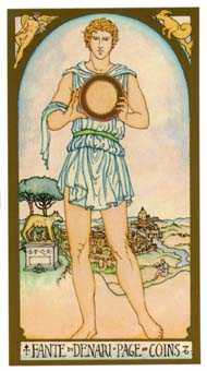 Daughter of Coins Tarot Card - Renaissance Tarot Deck