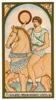 Knight of Coins Tarot Card - Renaissance Tarot Deck