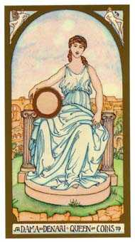 Queen of Coins Tarot Card - Renaissance Tarot Deck