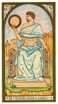 King of Buffalo Tarot Card - Renaissance Tarot Deck