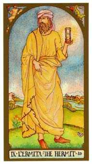 The Anchoret Tarot Card - Renaissance Tarot Deck