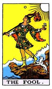 The Foolish Man Tarot Card - Rider Waite Tarot Deck