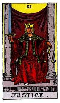 Justice Tarot Card - Rider Waite Tarot Deck