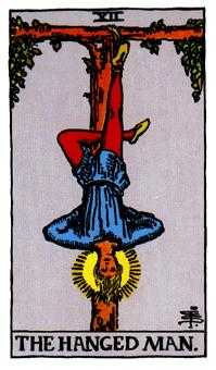 The Hanged Man Tarot Card - Rider Waite Tarot Deck