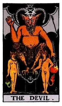 The Devil Tarot Card - Rider Waite Tarot Deck