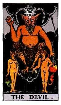 悪魔のタロットカード