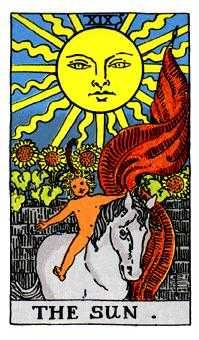 The Sun Tarot Card - Rider Waite Tarot Deck