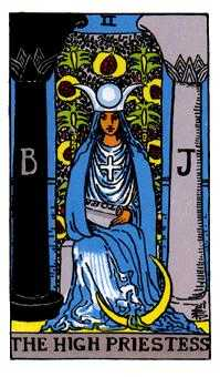 The High Priestess Tarot Card - Rider Waite Tarot Deck
