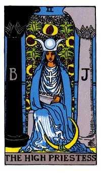 女司祭長のタロットカード