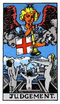 The Judgment Tarot Card - Rider Waite Tarot Deck