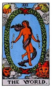 The World Tarot Card - Rider Waite Tarot Deck