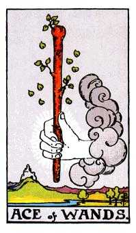 Ace of Pipes Tarot Card - Rider Waite Tarot Deck
