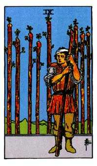 Nine of Clubs Tarot Card - Rider Waite Tarot Deck
