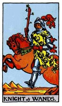 Knight of Rods Tarot Card - Rider Waite Tarot Deck