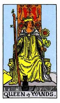 Queen of Rods Tarot Card - Rider Waite Tarot Deck