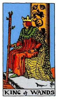 King of Staves Tarot Card - Rider Waite Tarot Deck