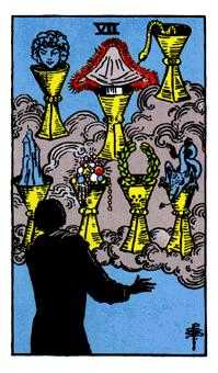 Seven of Cups Tarot Card - Rider Waite Tarot Deck