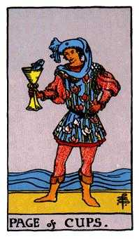 Page of Cups Tarot Card - Rider Waite Tarot Deck