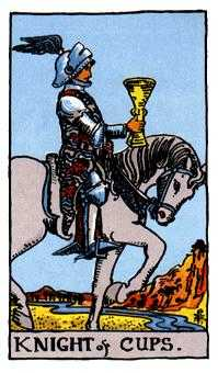 Knight of Water Tarot Card - Rider Waite Tarot Deck