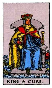 King of Hearts Tarot Card - Rider Waite Tarot Deck