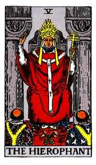 The High Priest Tarot Card - Rider Waite Tarot Deck