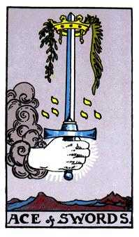 Ace of Swords Tarot Card - Rider Waite Tarot Deck