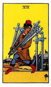 Seven of Swords Tarot Card - Rider Waite Tarot Deck