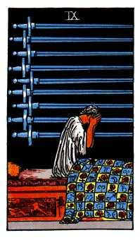 Nine of Swords Tarot Card - Rider Waite Tarot Deck