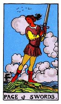 Page of Swords Tarot Card - Rider Waite Tarot Deck