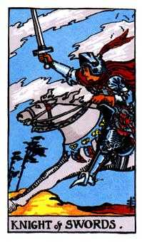 Cavalier of Swords Tarot Card - Rider Waite Tarot Deck