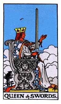 Queen of Arrows Tarot Card - Rider Waite Tarot Deck