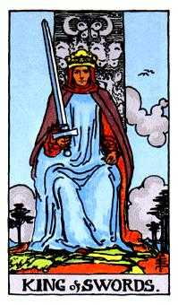Roi of Swords Tarot Card - Rider Waite Tarot Deck