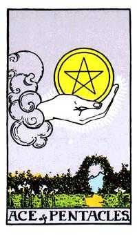 Ace of Coins Tarot Card - Rider Waite Tarot Deck