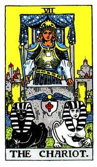 The Chariot Tarot Card - Rider Waite Tarot Deck