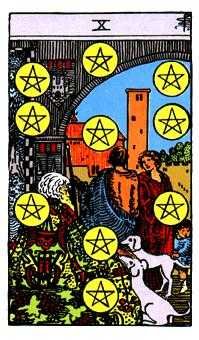 Ten of Rings Tarot Card - Rider Waite Tarot Deck