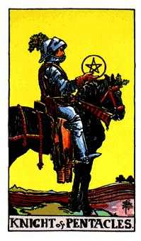 Knight of Coins Tarot Card - Rider Waite Tarot Deck