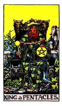 King of Coins Tarot Card - Rider Waite Tarot Deck