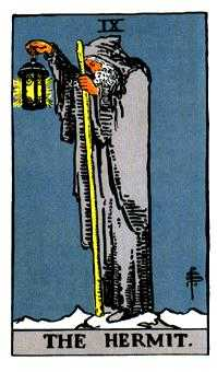 The Anchoret Tarot Card - Rider Waite Tarot Deck